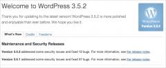WordPress 3.5.2