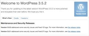WordPress 3.5.2 – bản vá bảo mật