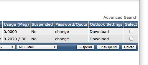 đổi mật khẩu email trong DirectAdmin